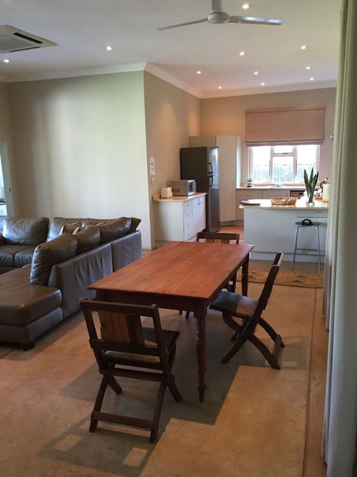 Dining area off the fully equipped kitchen.