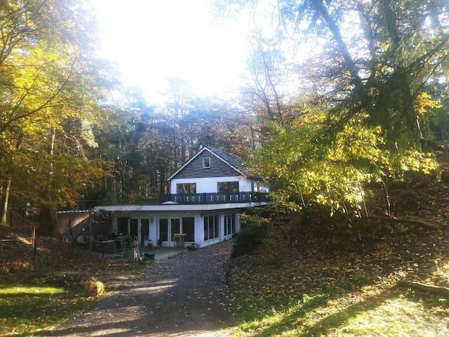 Mooie studio met eigen ingang, aan rand v.h. bos