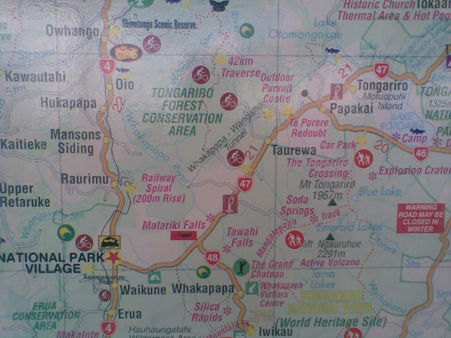map at National Park Train Station
