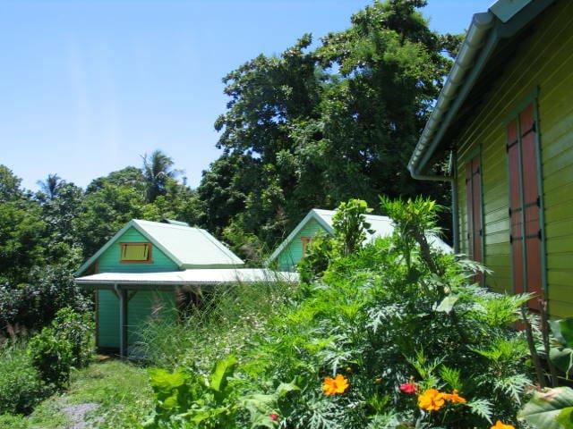 "Gites ""an-TIKAZ-la"" ( dans la petite case ) - Trois Rivières - Allotjament sostenible a la natura"