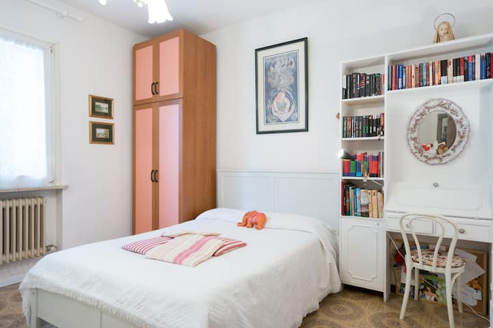Large room  double bed and en-suite shower room
