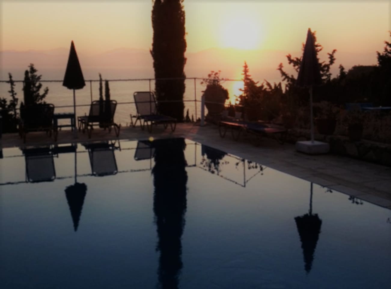Sunset by the pool..