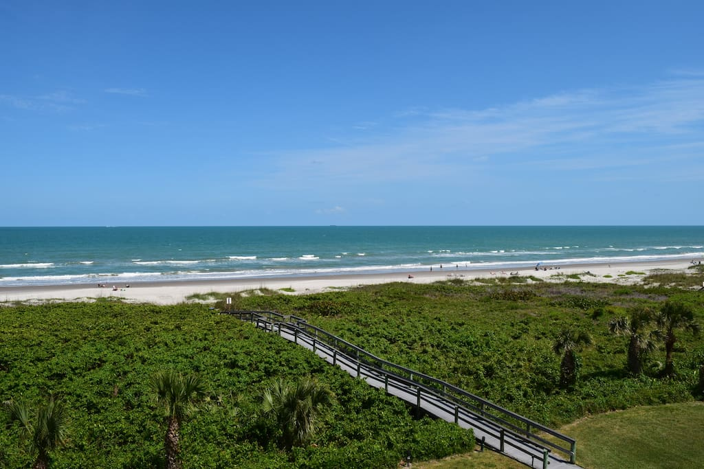 view of walkover access from condo balcony