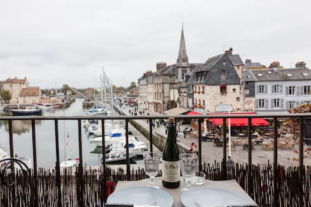 The balcony of the harbor . super center .romantic - Honfleur - Appartement