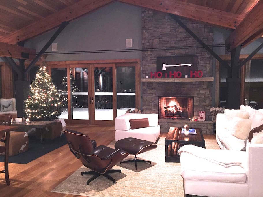 Great room in the winter