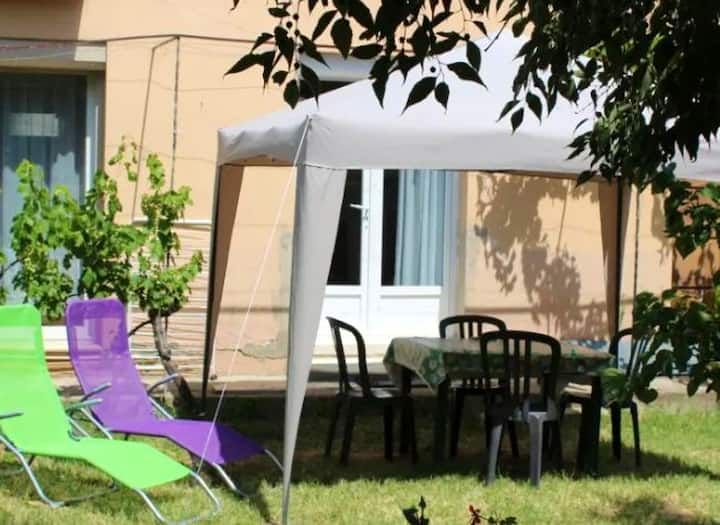 Apartment with one bedroom in Ria-Sirach, with wonderful mountain view, enclosed garden and WiFi - 60 km from the beach