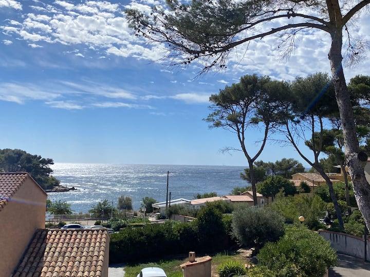 Superbe logement vue mer face à la plage