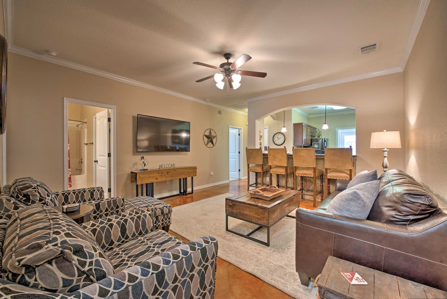 The interior is complete with 1,290 square feet of well-appointed living space.