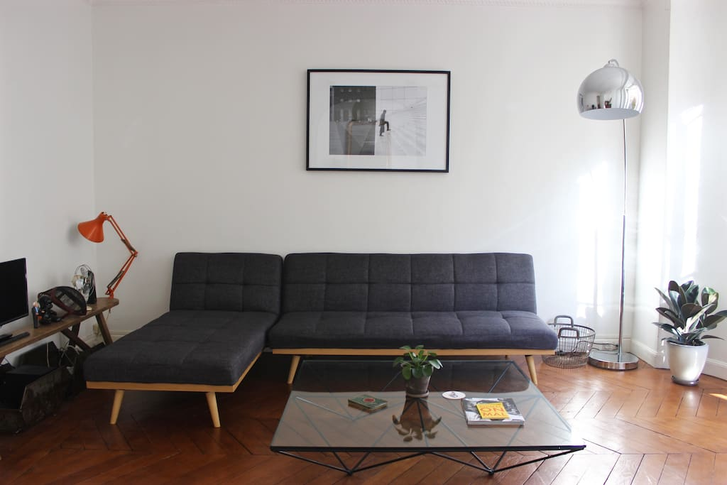 Living room with sleeper sectional