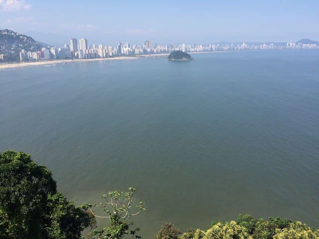 Vista panorâmica para mar