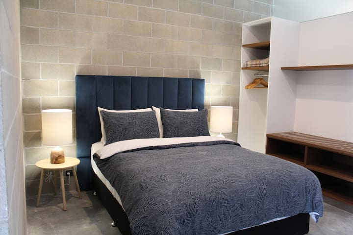 The brand new super-comfortable queen sized bed will ensure you sleep well in Walpole.