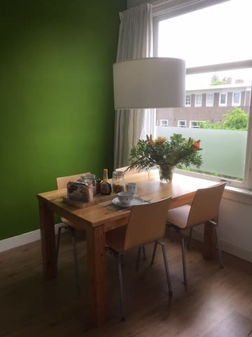 Typical dutch apartment in a quiet neighbourhood