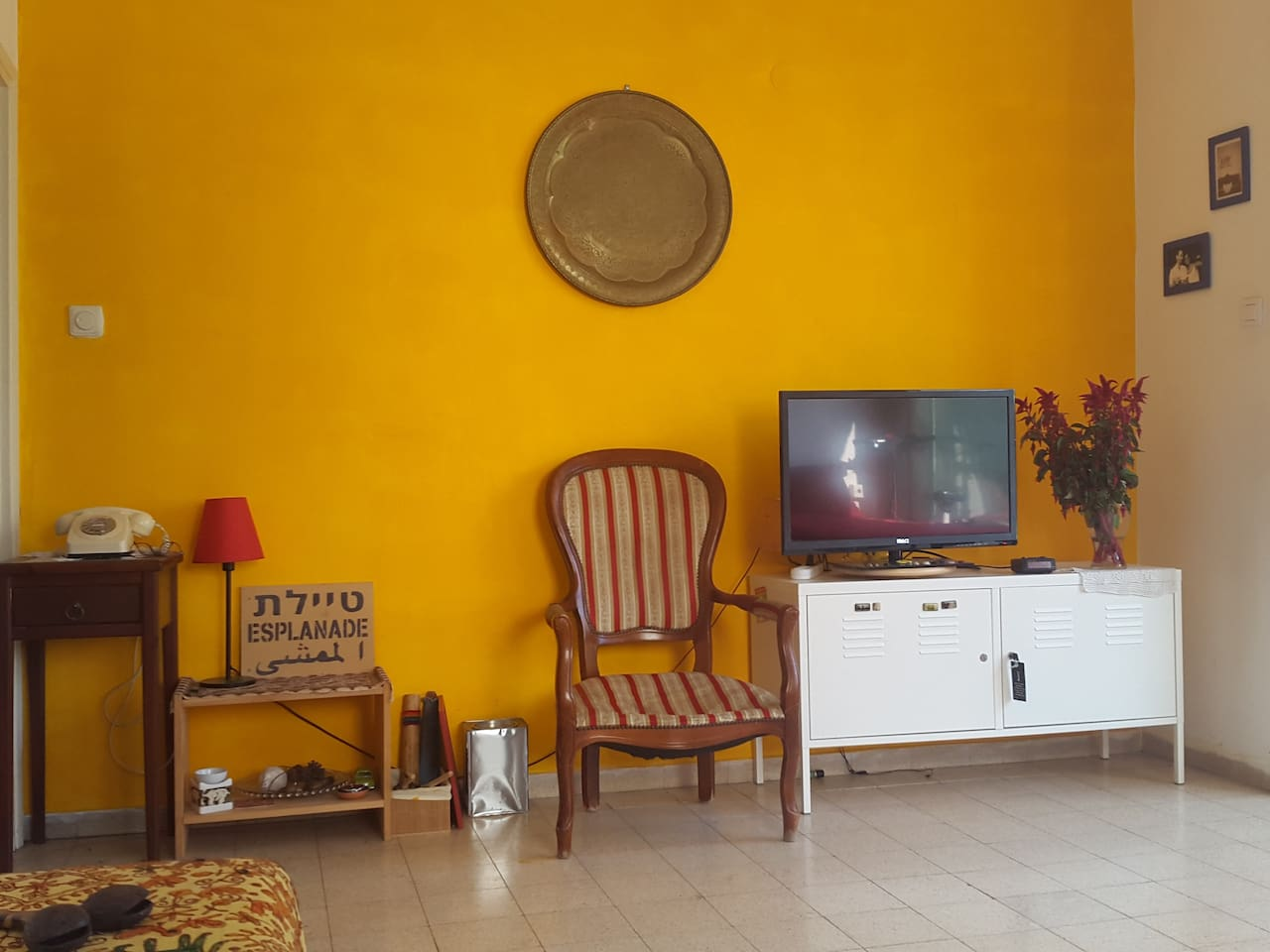 Bright and yellow living room