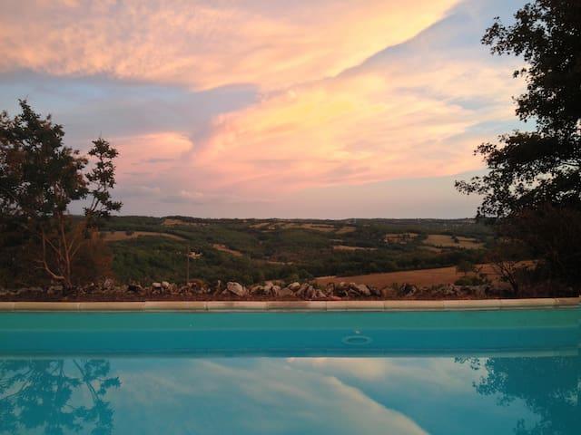Maison de campagne avec piscine