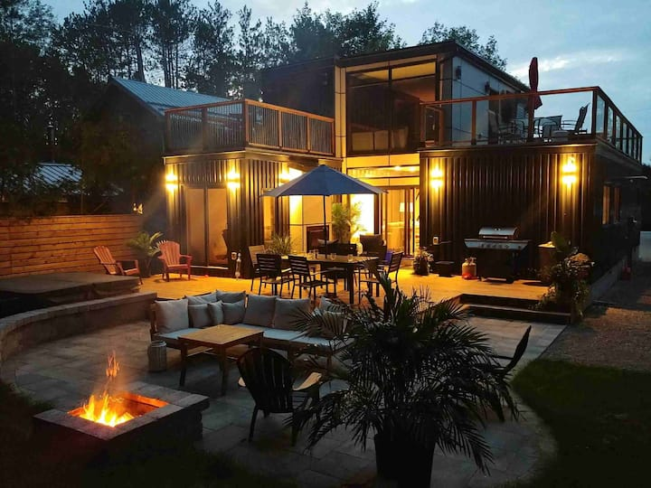 Sleek and Stylish Container Home