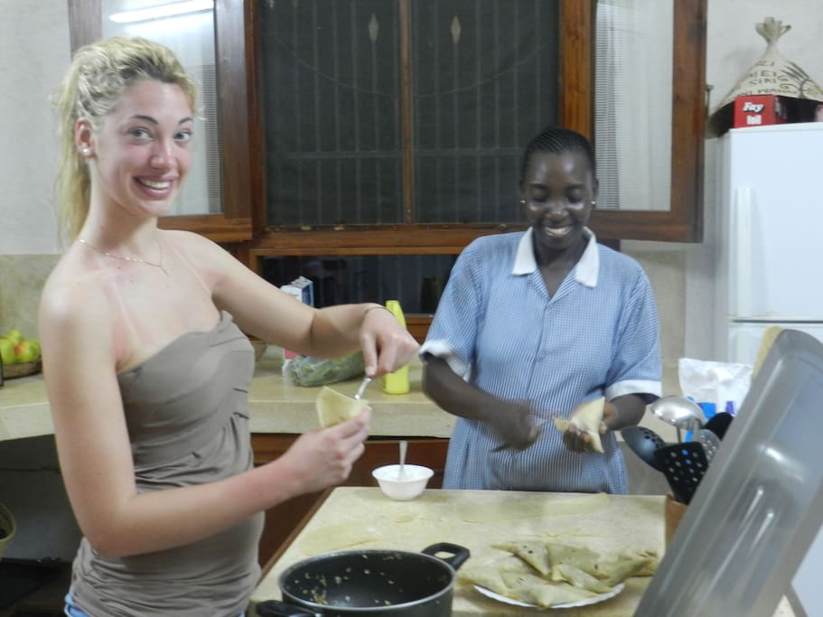FRANCY AND ROSE THE COOK IN THE KITCHEN