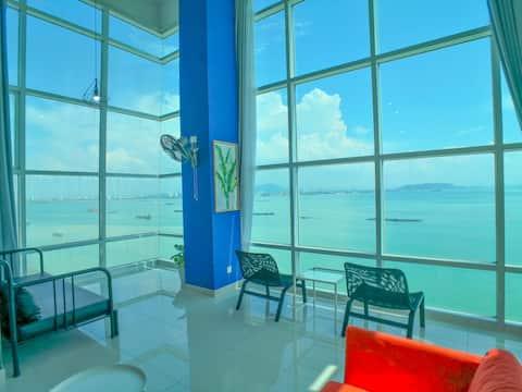 180° 无敌日出海景海边 Sunrise Seaview Seaside Duplex 12