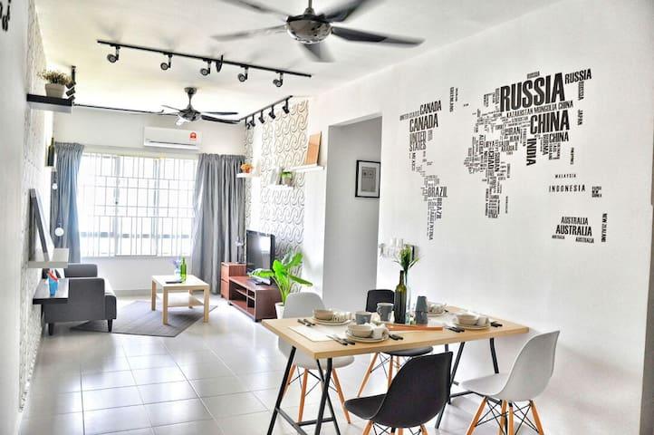 Scandinavian Apartment @ Setia Alam - Shah Alam - Apartamento