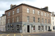 The apartment is located in this building which was built in 1822 as Perth Theatre Royal.