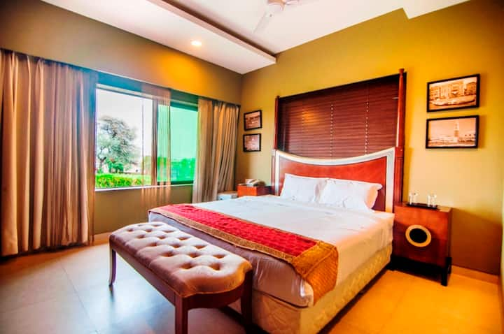 Classic Deluxe AC Room @Jalsa Resort, Indore