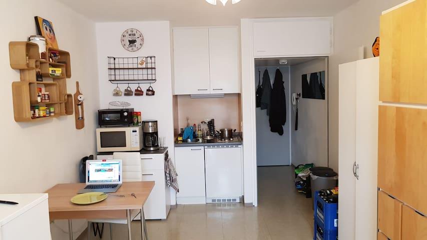 Zentrale 1 Zim. Wohnung (Küchenzeile, Privatbad)
