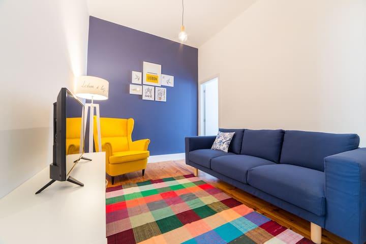 Lisbon heart 4-cozy Flat-Family Friendly - Lisboa - Daire