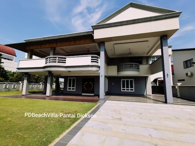 PD Beach Villa-Pantai Dickson[BBQ+Karaoke+Jacuzzi]
