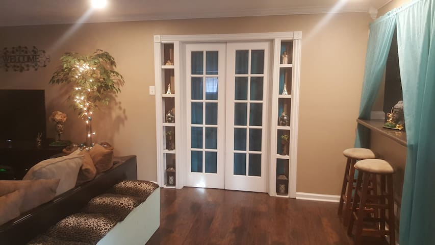 French door to master bedroom