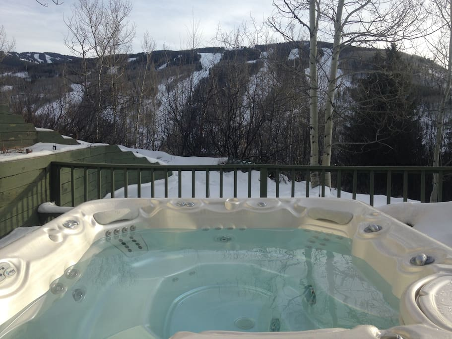 Private, secluded hot tub
