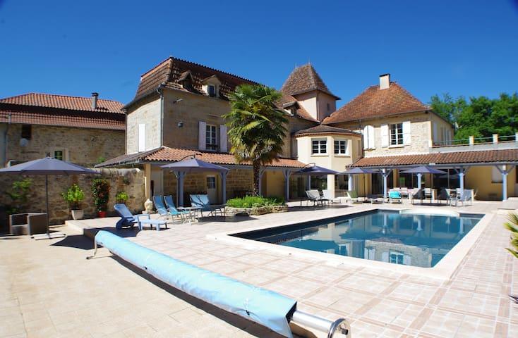 Chambre Rocamadour, piscine chauffée