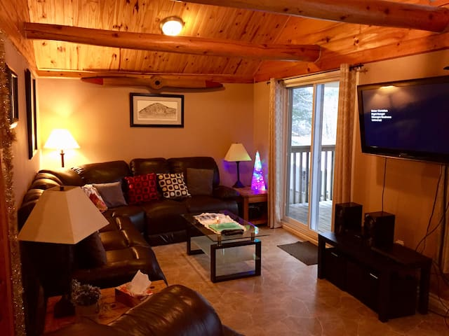 Living room with satellite TV and Wifi...sliding door leads to large patio deck