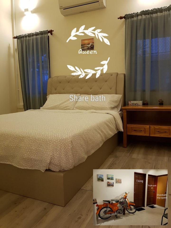 Cheras KL Queen#3 single beds#King bed@bathroom