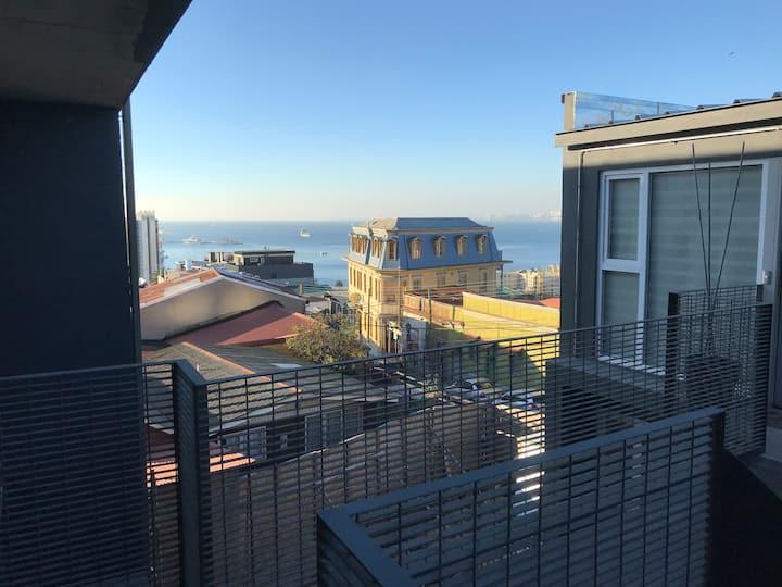 Loft en Valparaíso vista al mar