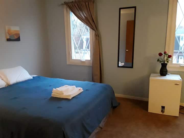 Spacious bedroom in quiet home