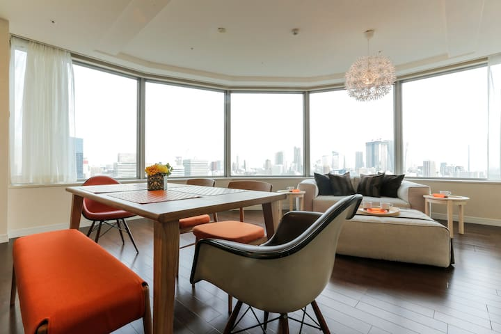 2 min from Shiodome stn Tower suite