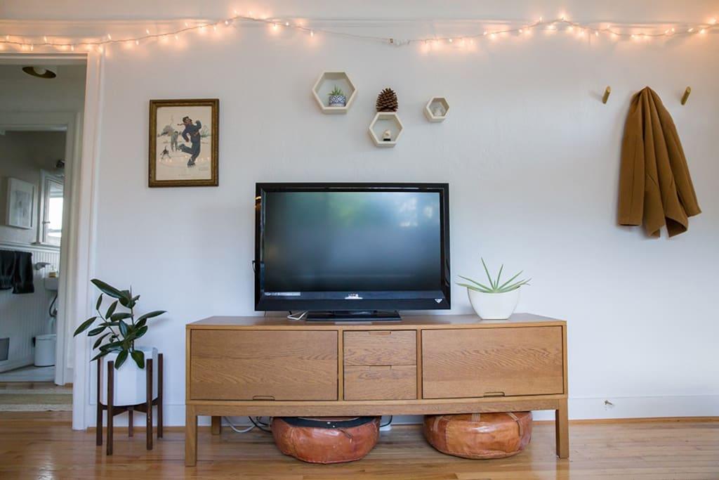 TV with Hulu, Netflix, Amazon Prime and HBO.