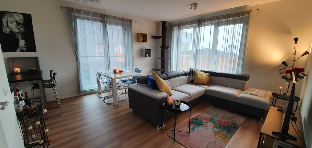 Modern, fully furnished, one bedroom apartment