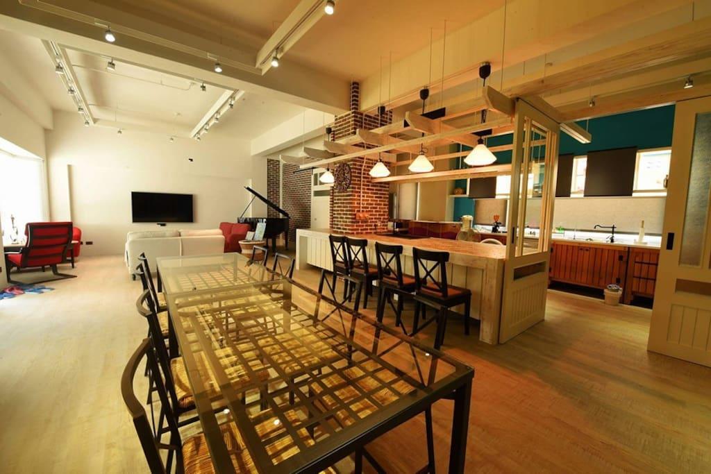 【心舟民宿】您夢想中的廚房 開放式的空間、溫馨的中島設計,在這裡用餐,會讓您格外放鬆、美味。
