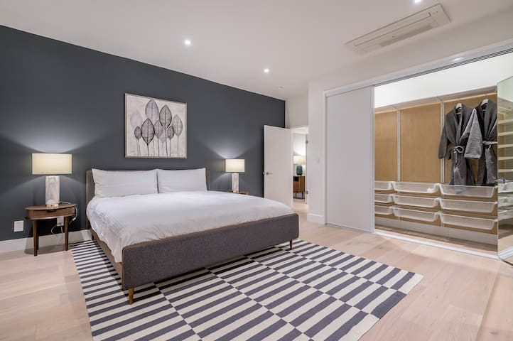 Master Bedroom - with en-suite shower and walk-in closet + 2nd sliding doors closet, Television with Netflix, Hulu, Youtube access