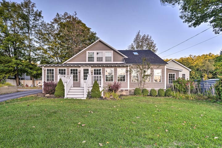 Charming Home Steps from Lake George w/ BBQ!