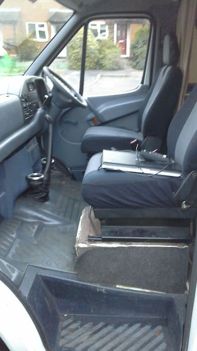 Two seater with cup holders for tea on the move