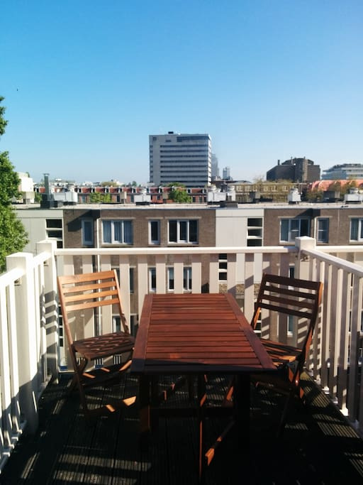 Great terrace view of Amsterdam