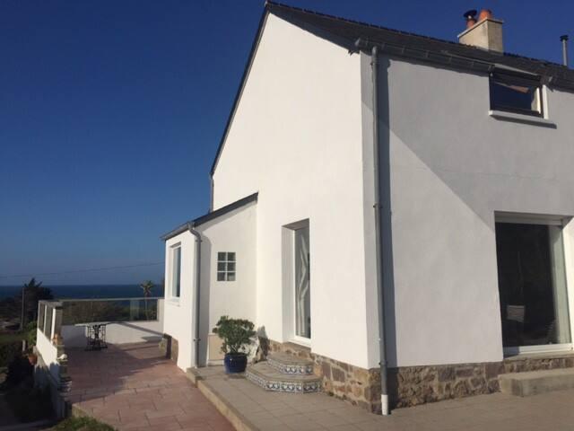 maison véranda face à la mer - Fermanville - Vila