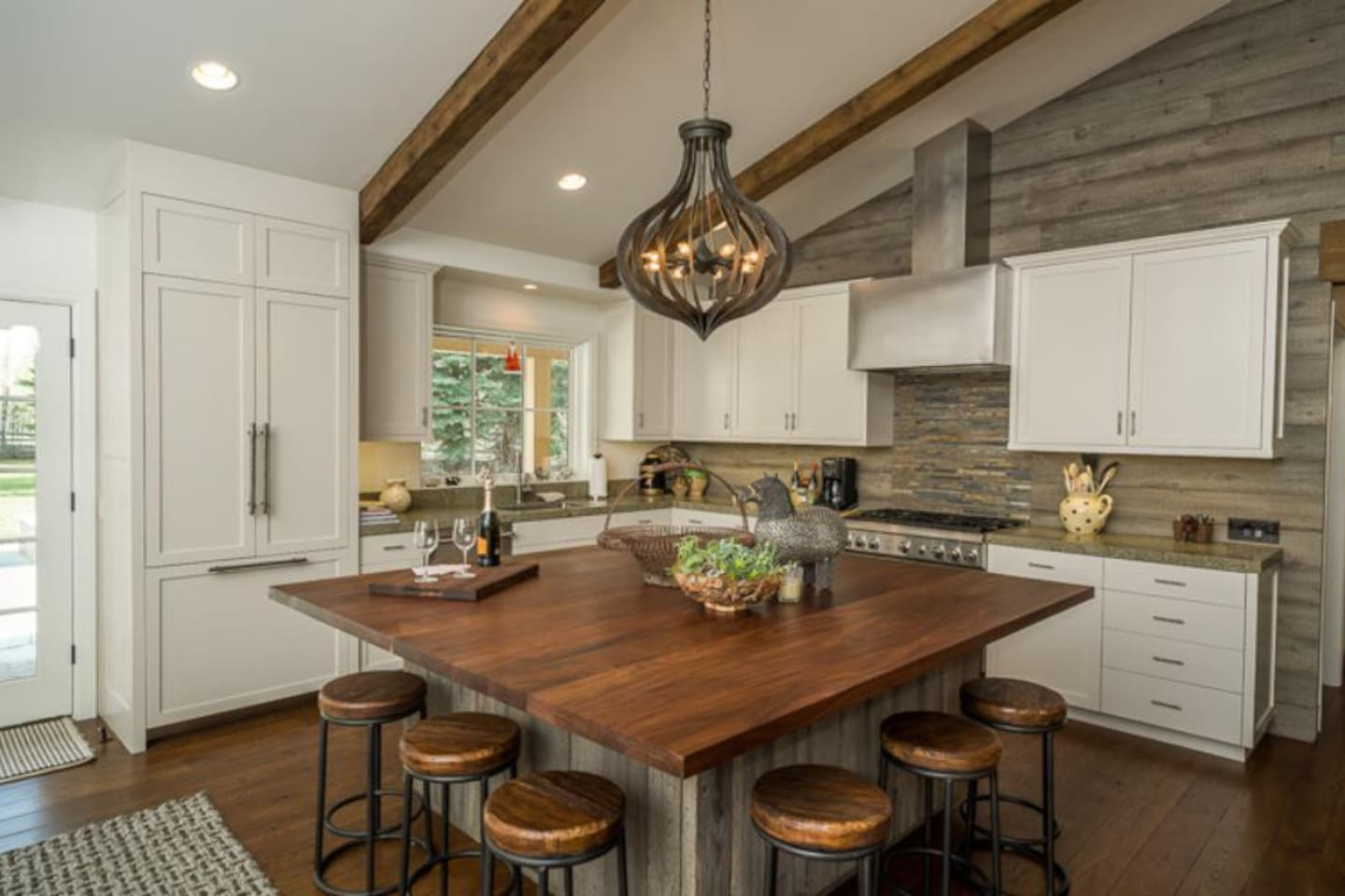 Kitchen with Island & Bar Seating.