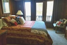 Master bedroom with private deck and fantastic views of Peak 8!