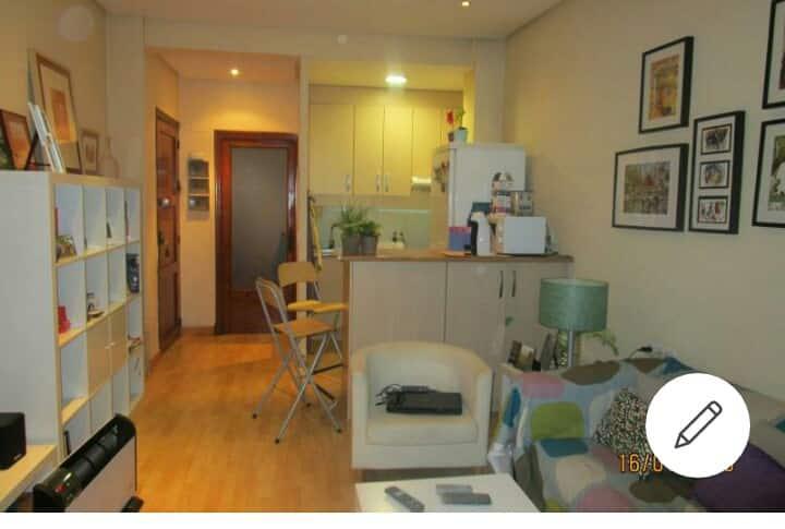 Agradable espacio con sofa cama,tv ,wifi,cocina