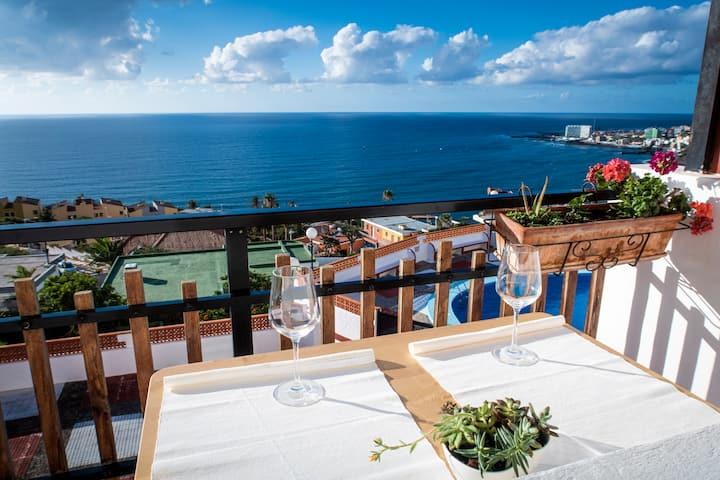 Apartamento en Bajamar, vistas panorámicas