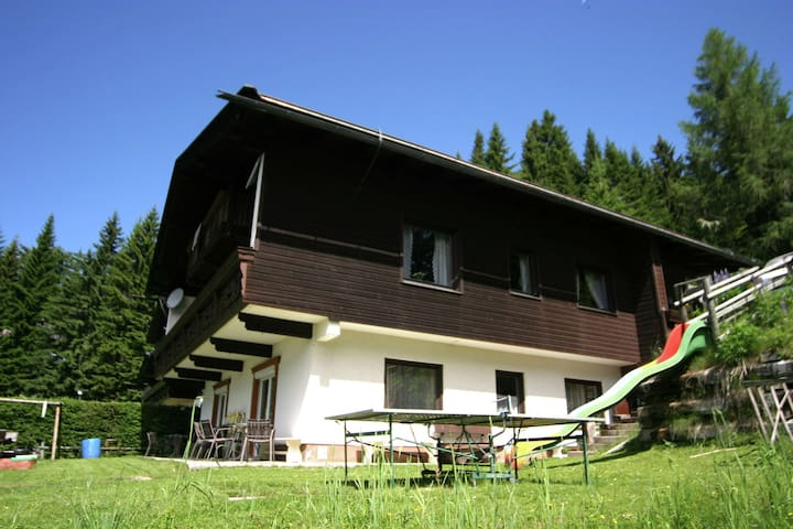 Apartment on a mountain slope with free access to the Lake Ossiach beach