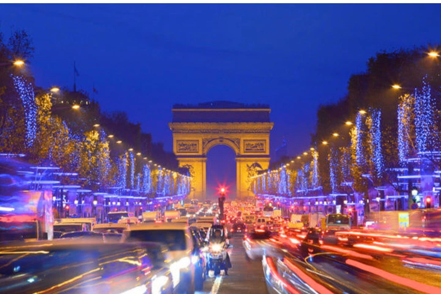 3 mins walking from Triumph Arch and Champs Elysees