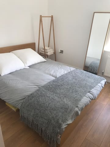 Double Bed with Rail